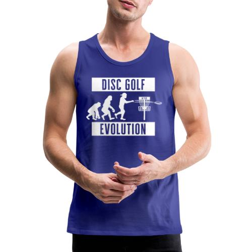 Disc golf - Evolution - White - Miesten premium hihaton paita