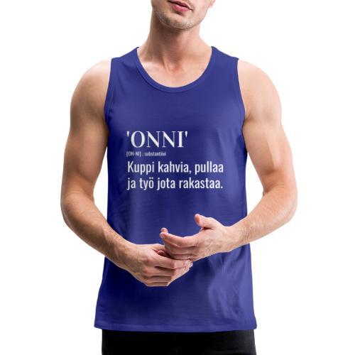Onni Työ - Miesten premium hihaton paita