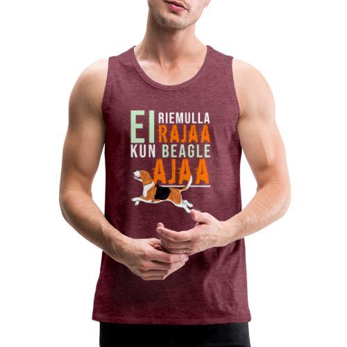 Riemulla Rajaa Beagle - Miesten premium hihaton paita