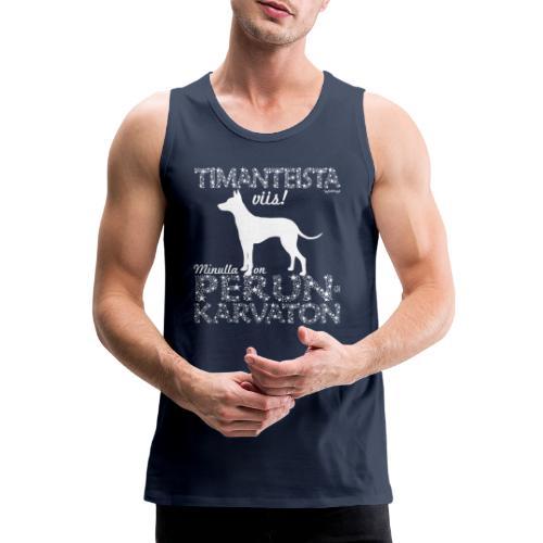 Perunkarvaton Timantti - Miesten premium hihaton paita