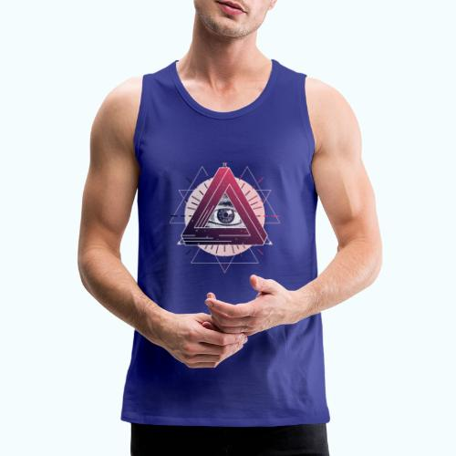 All-seeing eye triangle magic - Men's Premium Tank Top