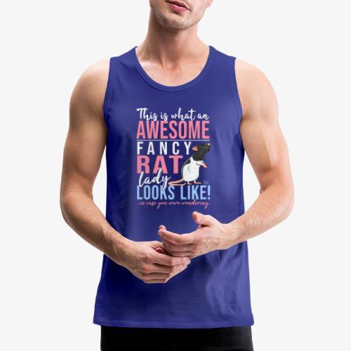 Fancyrat Awesome II - Miesten premium hihaton paita