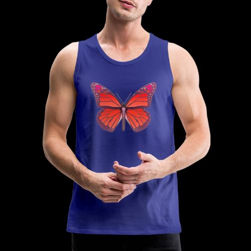 D28 monarch butterfly red lajarindream 4500px - Tank top premium hombre