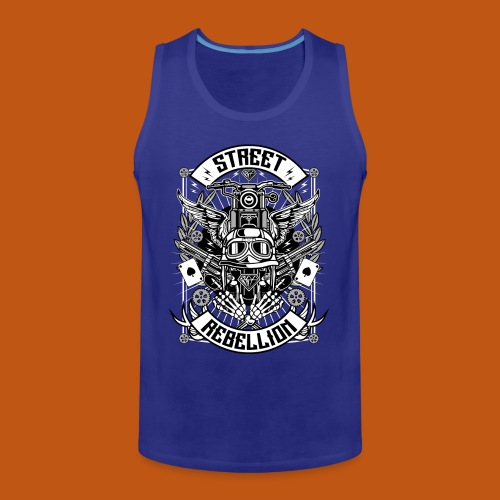 Motorrad Shirt - Street Rebellion (dreifarbig) - Männer Premium Tank Top