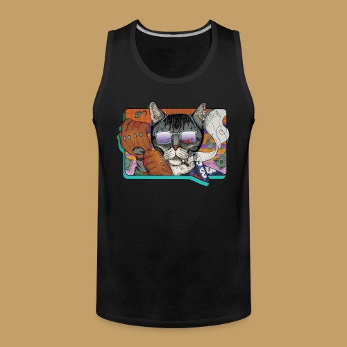 Crime Cat in Shades - Tank top męski Premium
