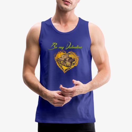 Glowing Valentine Heart - Männer Premium Tank Top