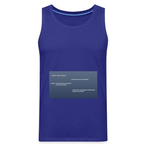 Running joke t-shirt - Men's Premium Tank Top