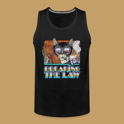 Crime Cat in Shades - Braking the Law - Tank top męski Premium