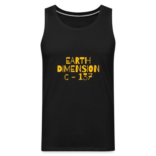 rick sanchez earth dimension c 137 - Canotta premium da uomo