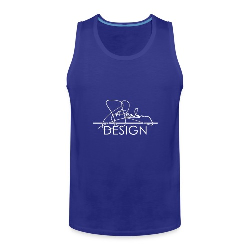 sasealey design logo wht png - Men's Premium Tank Top