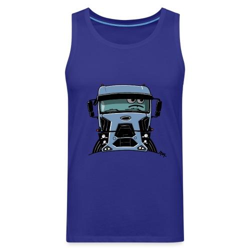 0812 F truck blue - Mannen Premium tank top