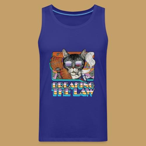 Crime Cat in Shades - Braking the Law - Tank top męski Premium
