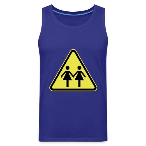 ACHTUNG LESBEN POWER! Motiv für lesbische Frauen - Männer Premium Tank Top