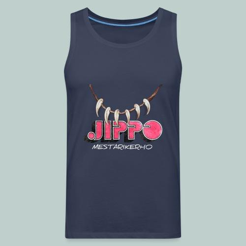 jippomestari_pink - Miesten premium hihaton paita
