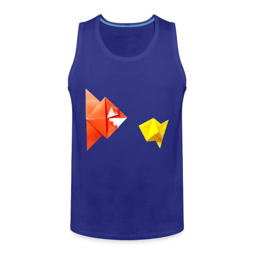 Origami Piranha and Fish - Fish - Pesce - Peixe - Men's Premium Tank Top