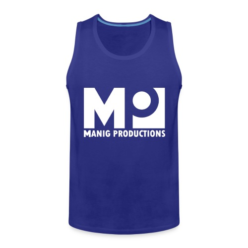 ManigProductions White Transparent png - Men's Premium Tank Top