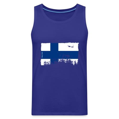 Suomen lippu, Finnish flag T-shirts 151 Products - Miesten premium hihaton paita