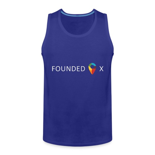 FoundedX logo white png - Men's Premium Tank Top