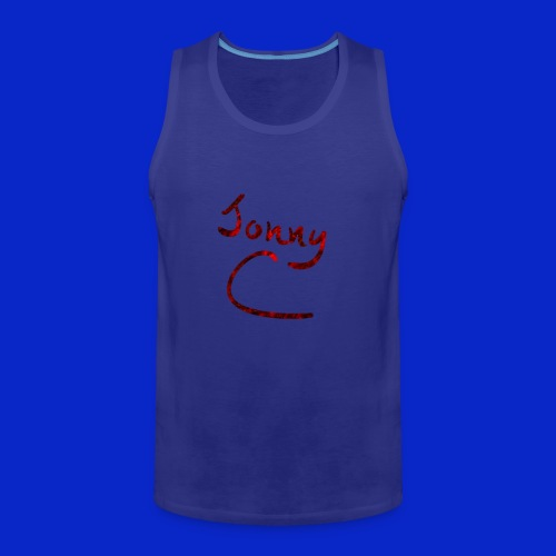 Jonny C Red Handwriting - Men's Premium Tank Top
