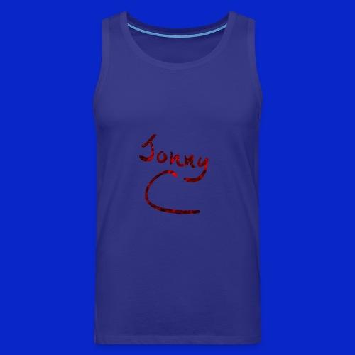 Jonny C Red Handwriting - Men's Premium Tank Top