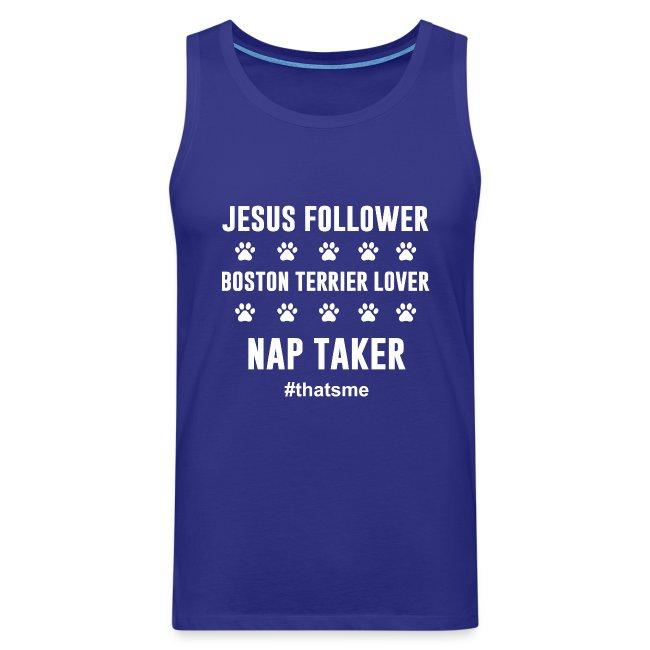 Jesus follower boston terrier lover nap taker