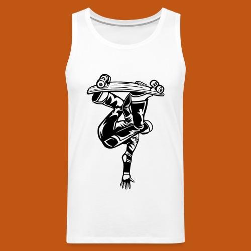 Skater / Skateboarder 03_schwarz weiß - Männer Premium Tank Top