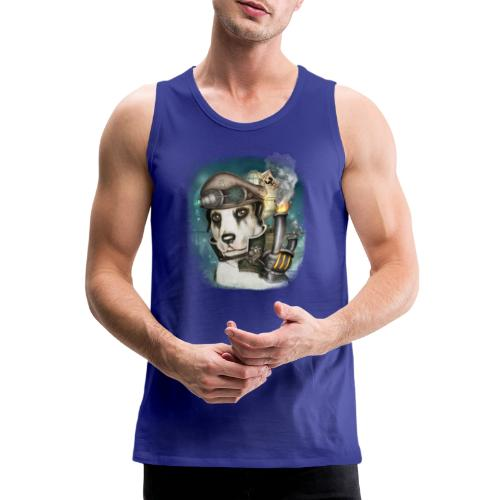 Steampunk Dog #2b - Canotta premium da uomo