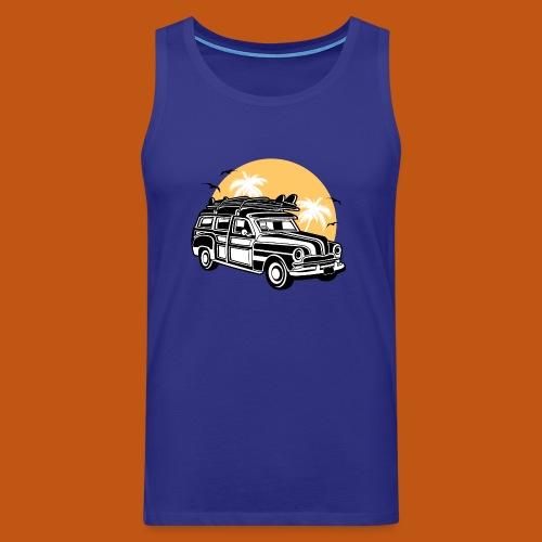 Chevy Cadilac Woodie / Oldtimer Kombi 01_3c - Männer Premium Tank Top