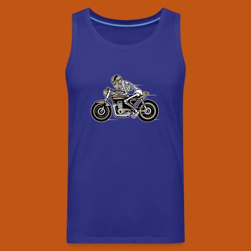 Cafe Racer Motorrad 05_dreifarbig - Männer Premium Tank Top