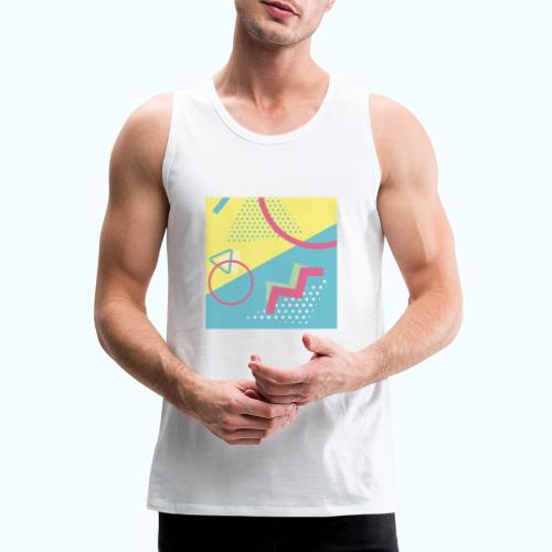 Pastel turquoise geometry - Men's Premium Tank Top