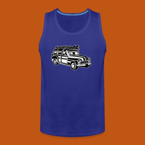 Chevy Cadilac Woodie / Oldtimer Kombi 01_sw - Männer Premium Tank Top