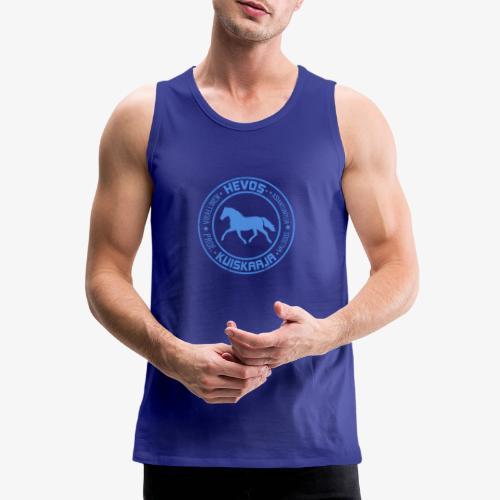 Hevoskuiskaaja Sininen - Miesten premium hihaton paita