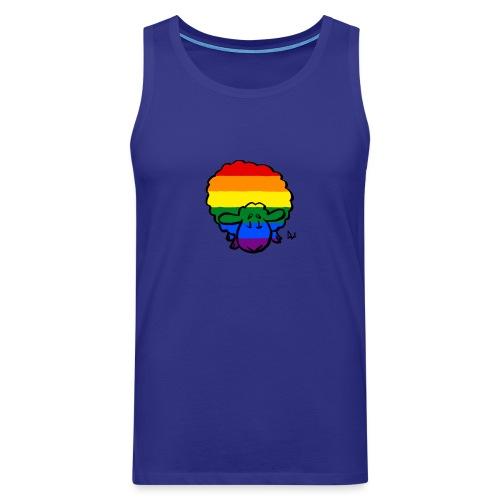 Rainbow Pride Sheep - Herre Premium tanktop
