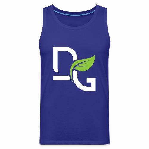DrGreen Logo Symbol weiss grün - Männer Premium Tank Top