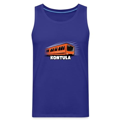 06-KONTULA HELSINKI tekstiili- ja lahjatuotteet - Miesten premium hihaton paita