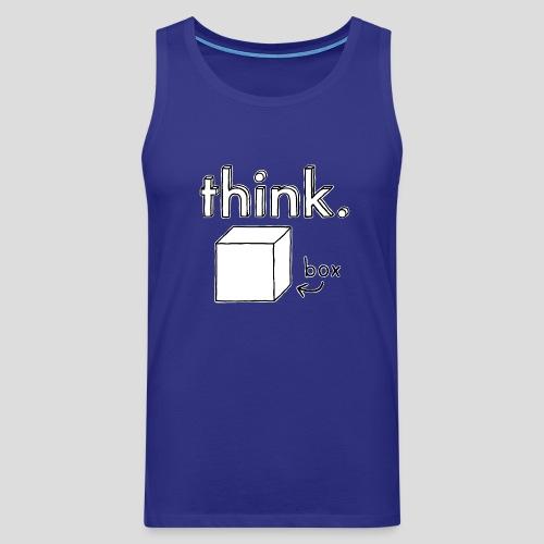 Think Outside The Box Illustration - Men's Premium Tank Top
