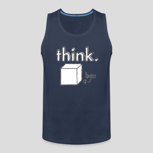 Think Outside The Box Illustration - Men's Premium Tank Top