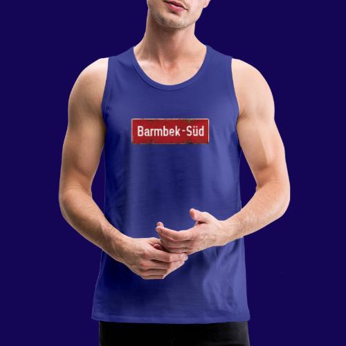 HAMBURG Barmbek Sued Ortsschild rot antik - Männer Premium Tank Top
