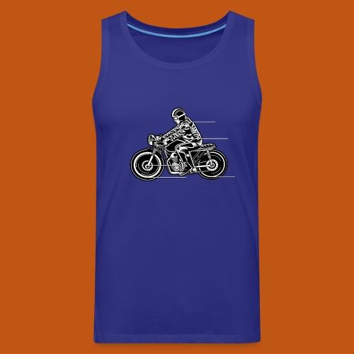 Cafe Racer Motorrad 04_schwarz weiß - Männer Premium Tank Top