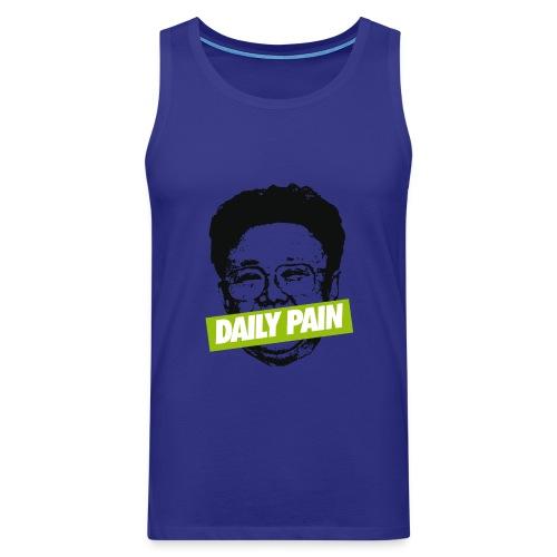 daily pain cho - Tank top męski Premium