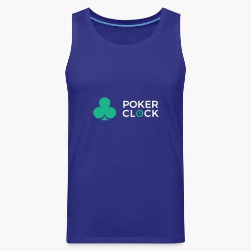 Poker Clock Logo - Männer Premium Tank Top