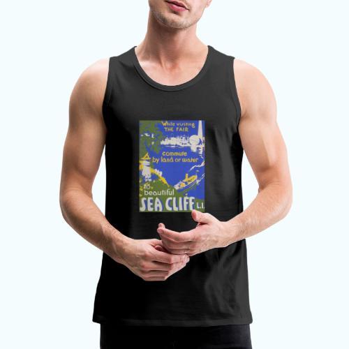 Lake travel vintage poster - Men's Premium Tank Top