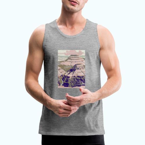 Rocky Mountains Vintage Travel Poster - Men's Premium Tank Top