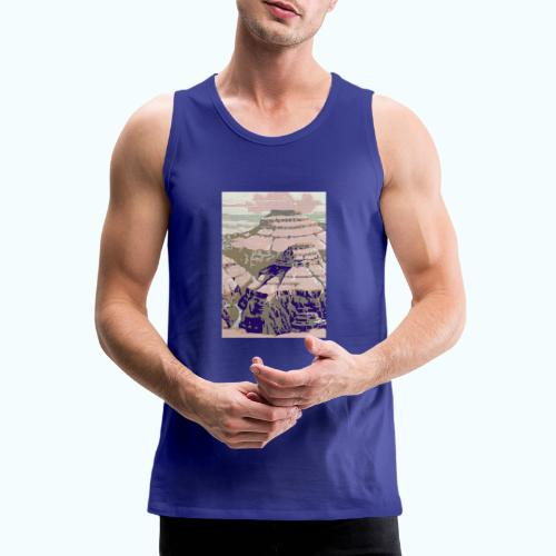 Rocky Mountains Vintage Travel Poster - Men's Premium Tank Top