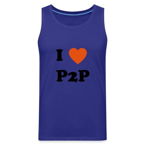 I Love P2P - Männer Premium Tank Top