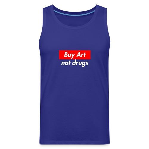 Buy Art Not Drugs - Miesten premium hihaton paita