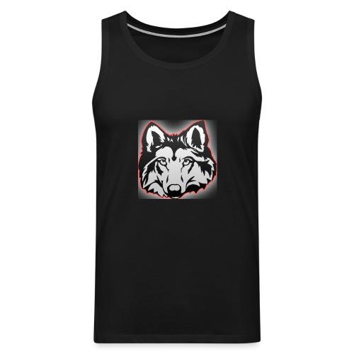 Wolfie (Red) - Men's Premium Tank Top