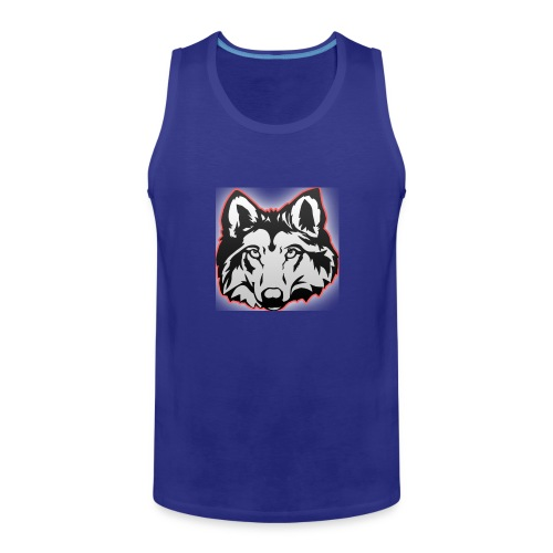Wolfie (Red) - Men's Premium Tank Top