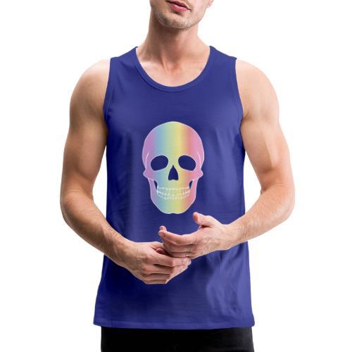 Rainbow Skull - Miesten premium hihaton paita