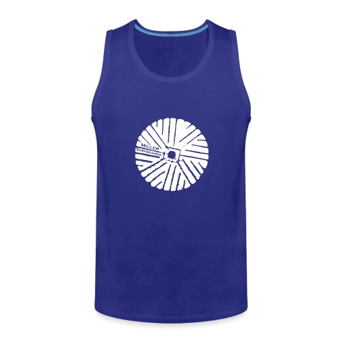 White chest logo sweat - Men's Premium Tank Top